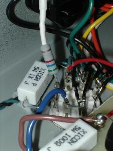 Grid resistor wiring