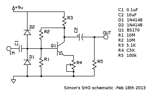 My own SHO schematic, with bill-of-materials