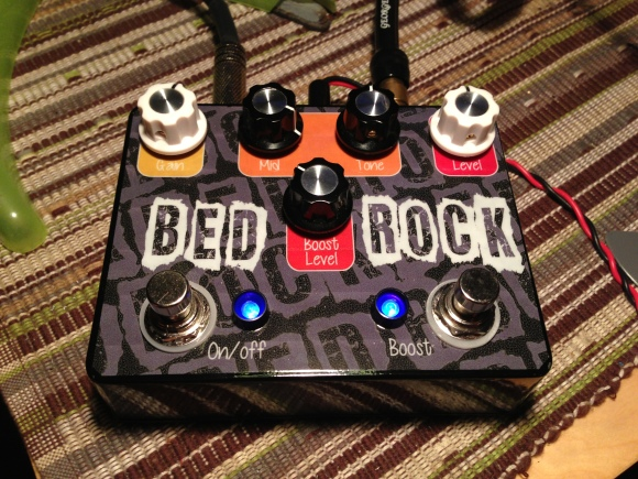 The finished 'Bed Rock'