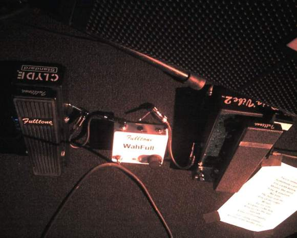 Trower's rig - including the Wahfull