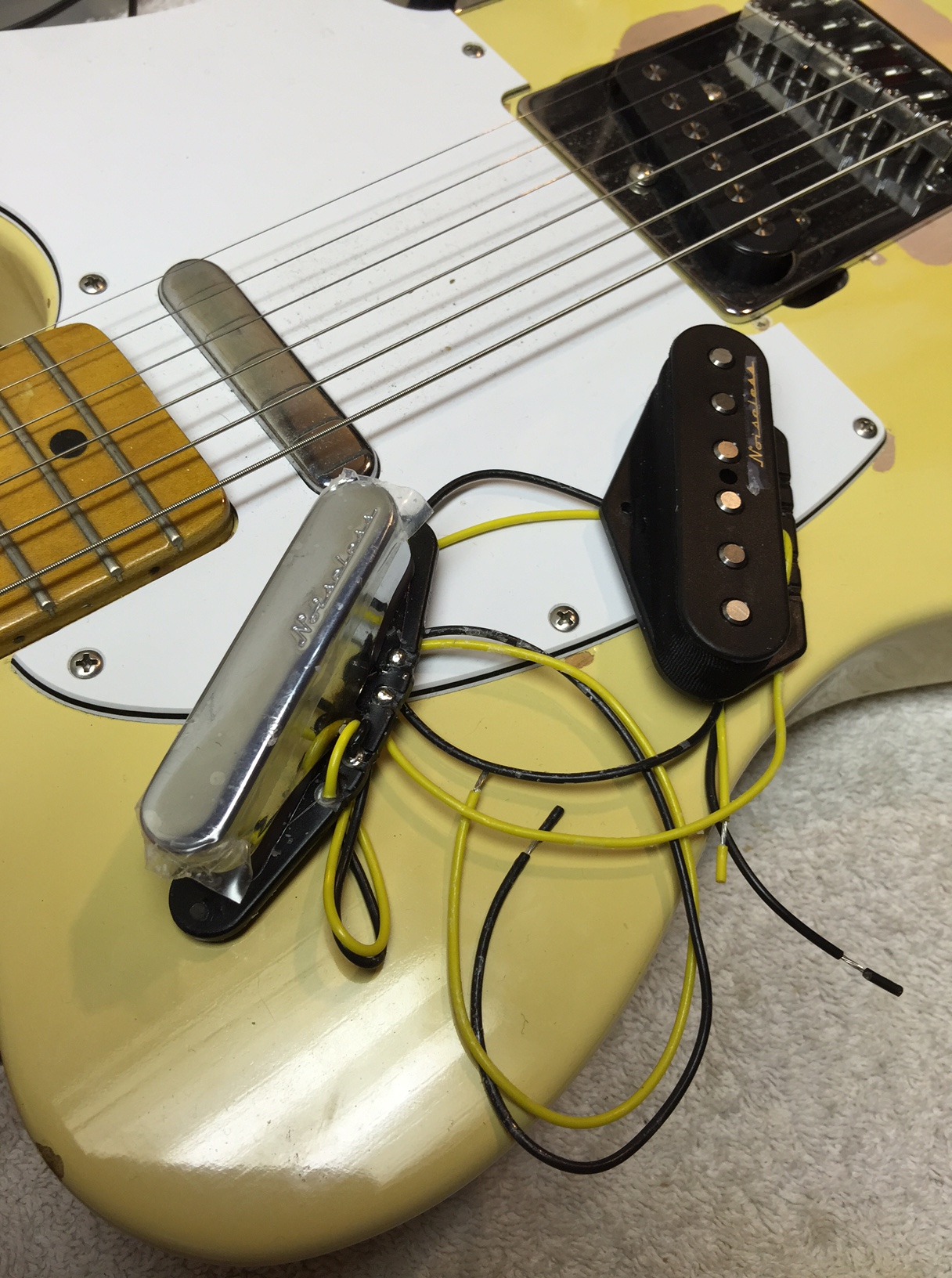 Rewiring a Telecaster with a four-way switch | Hot Bottles on fender cyclone ii wiring diagram, vintage diagram, fender scn pickup wiring diagram, active pickups wiring diagram, fender pot wiring, fender stratocaster parts diagram, fender s1 switch wiring diagram, fender guitar wiring diagrams, fender jaguar bass wiring diagram,